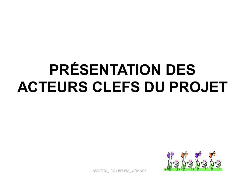 PRÉSENTATION DES ACTEURS CLEFS DU PROJET ASSIATTA_ RC / BELEM_ ASMADE