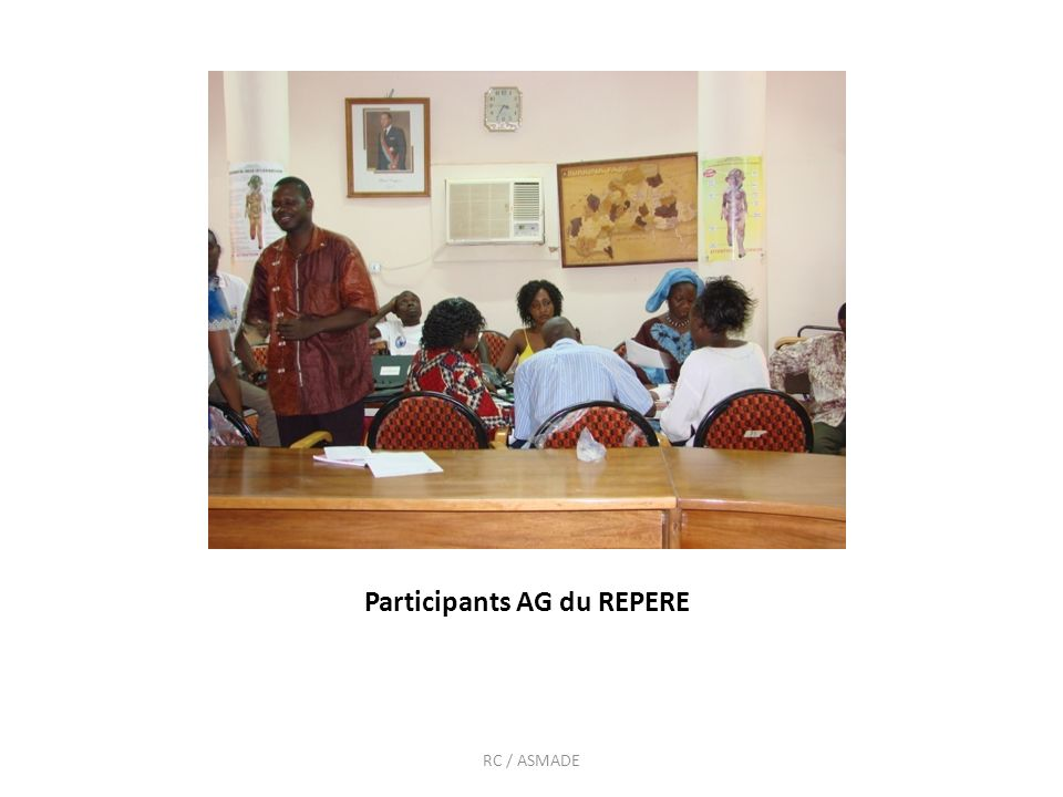 DEUX RESEAUX: Réseau des personnes référentes pour les jeunes (REPERE) Réseau des structures communautaires pour la promotion de la pair éducation (RESCOPE) ASSIATTA_ RC / BELEM_ ASMADE