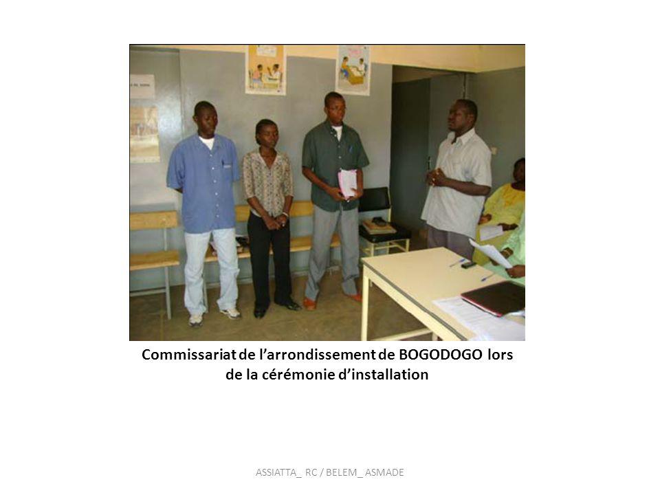 La formalisation des comités a été faite à travers : Lélaboration et adoption de textes règlementaires La signature quadripartite dune charte de fonctionnement (commissaires généraux, RESCOPE,responsables des centres jeunes, MCD) ASSIATTA_ RC / BELEM_ ASMADE