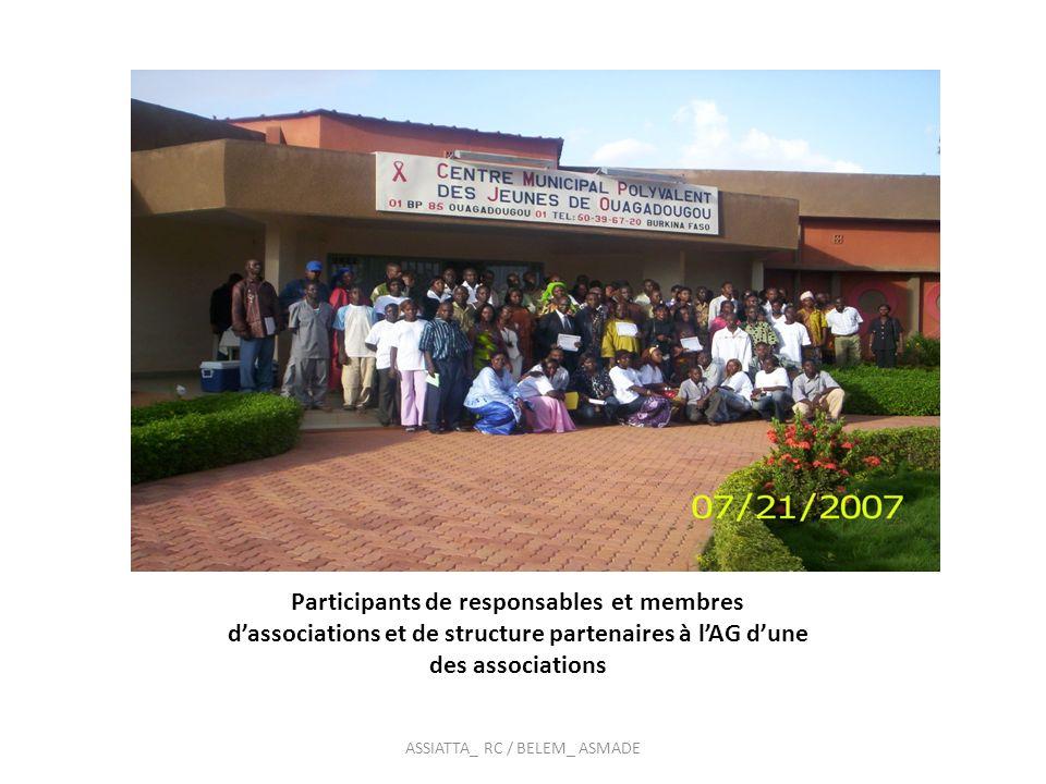 Vue partielle des participants à une réunion des acteurs ASSIATTA_ RC / BELEM_ ASMADE