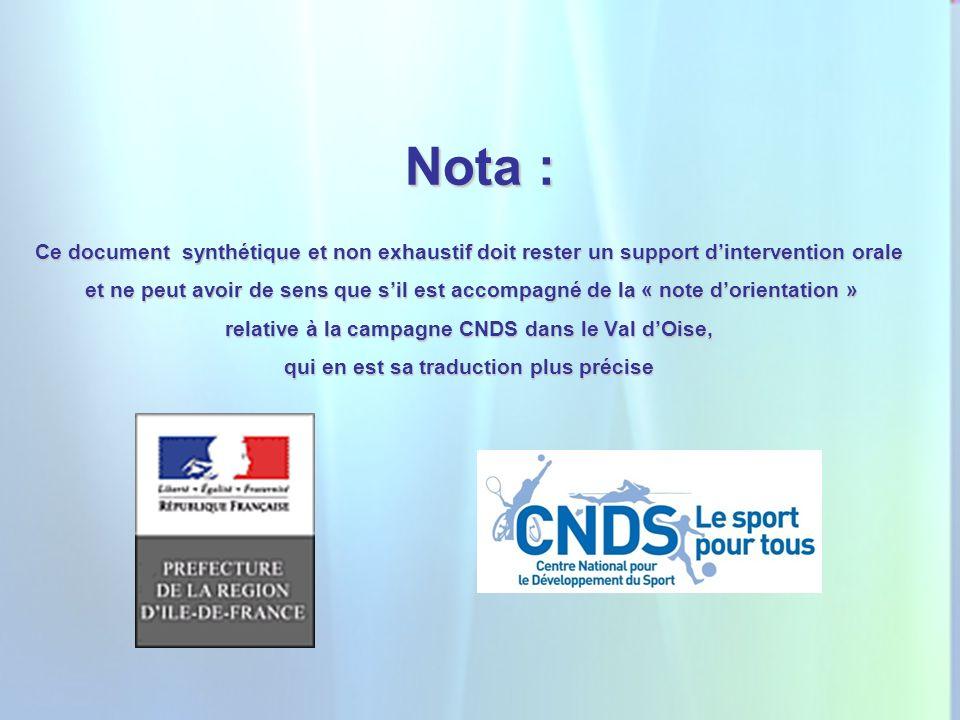 2 Nota : Ce document synthétique et non exhaustif doit rester un support dintervention orale et ne peut avoir de sens que sil est accompagné de la « n