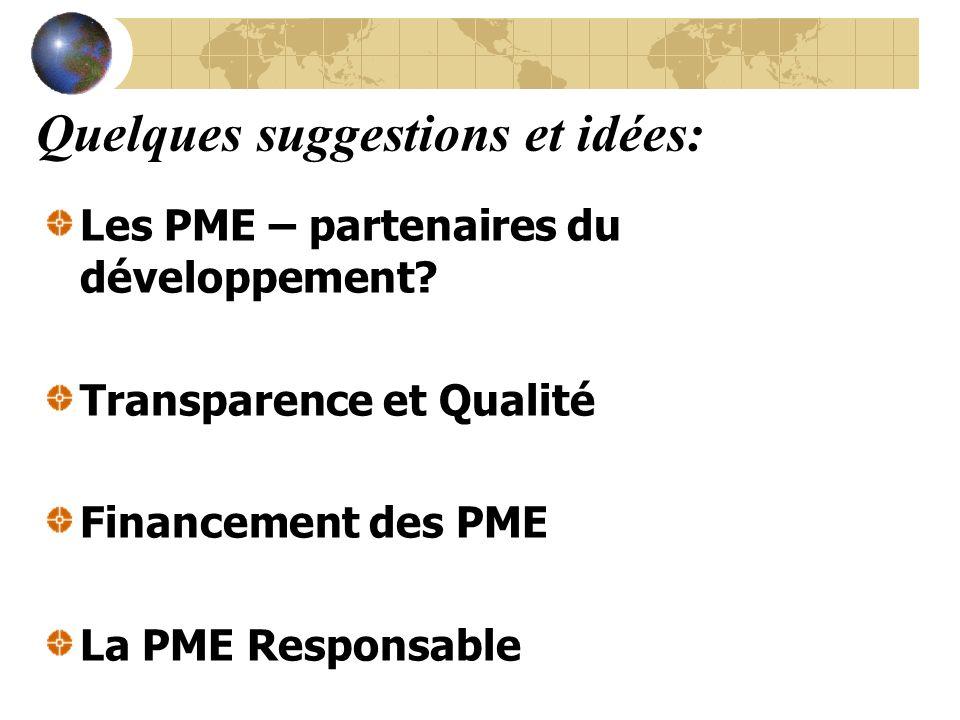 Les PME – partenaires du développement.
