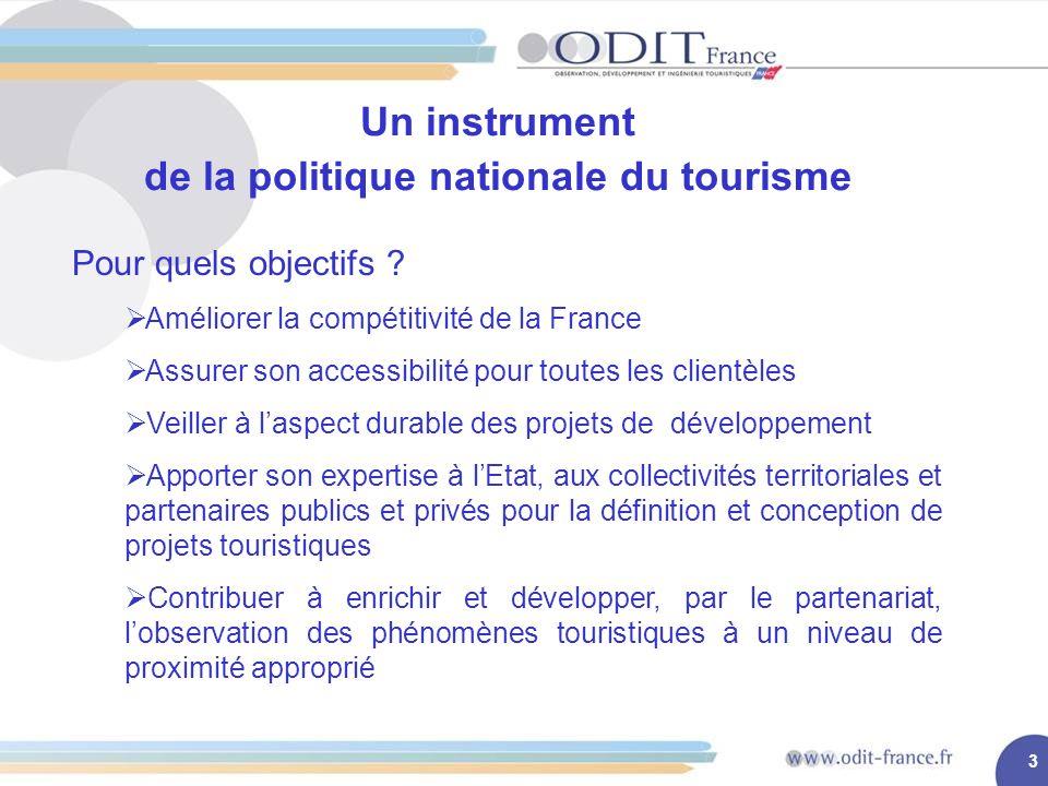 3 Un instrument de la politique nationale du tourisme Pour quels objectifs .
