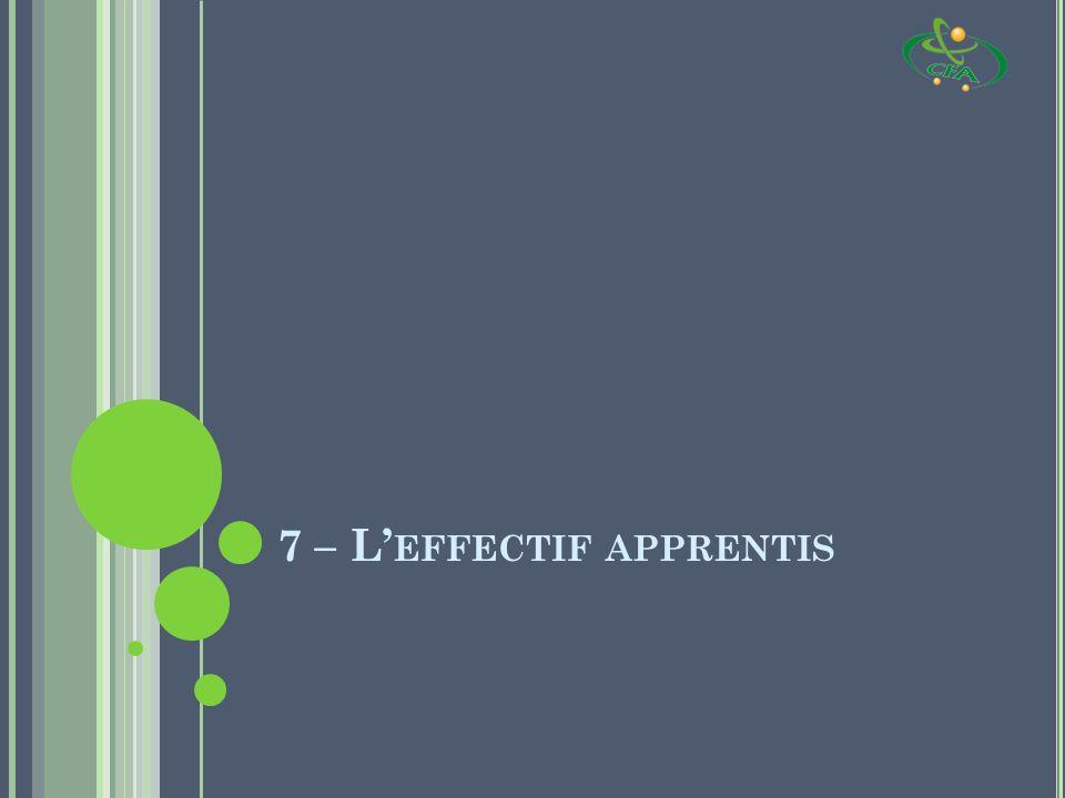 7 – L EFFECTIF APPRENTIS