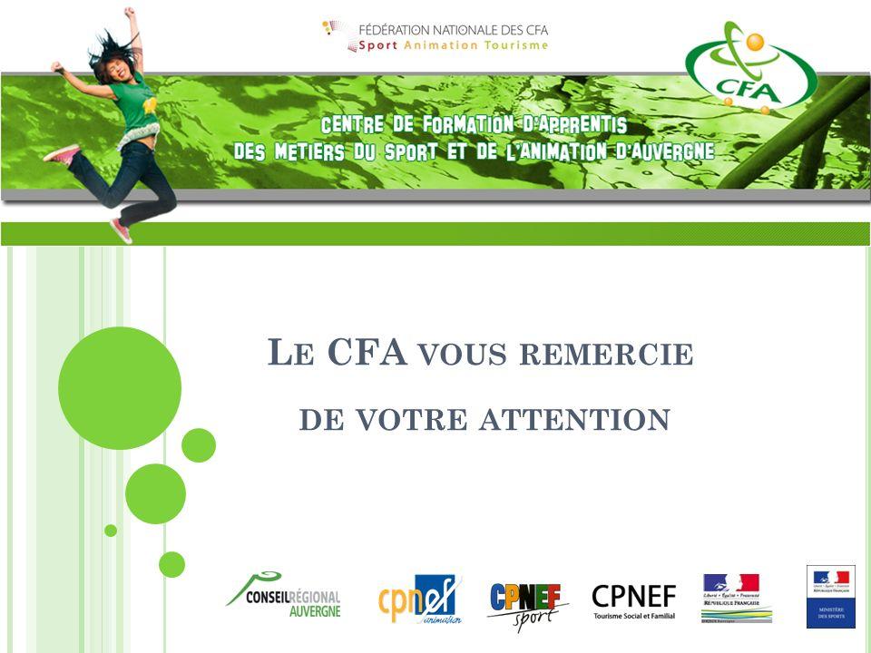 L E CFA VOUS REMERCIE DE VOTRE ATTENTION