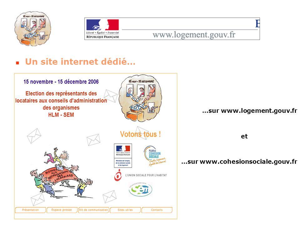 Un site internet dédié… …sur www.logement.gouv.fr et …sur www.cohesionsociale.gouv.fr