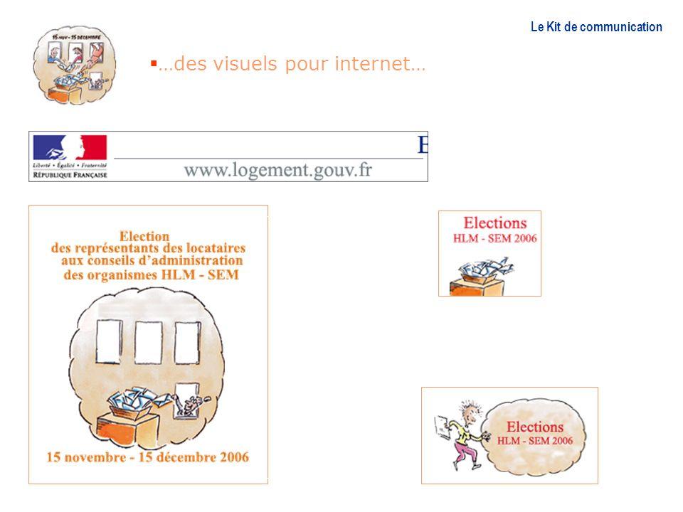 …des visuels pour internet… Le Kit de communication