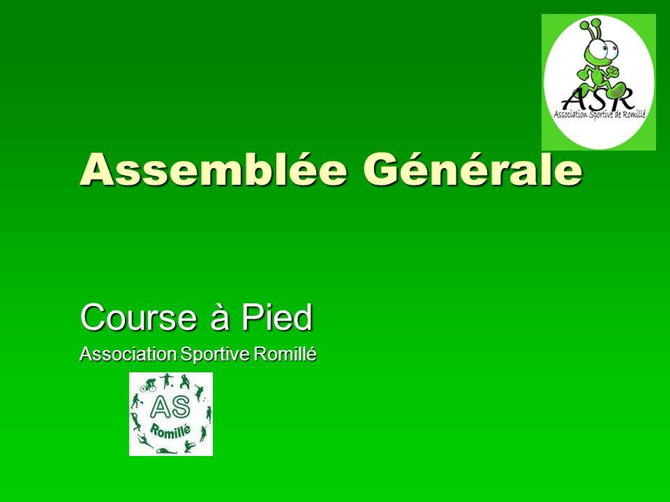 1er février 2013Course à pied Assemblée générale 12 Bilan associatif La Rotte des Gobions Verts 2.0
