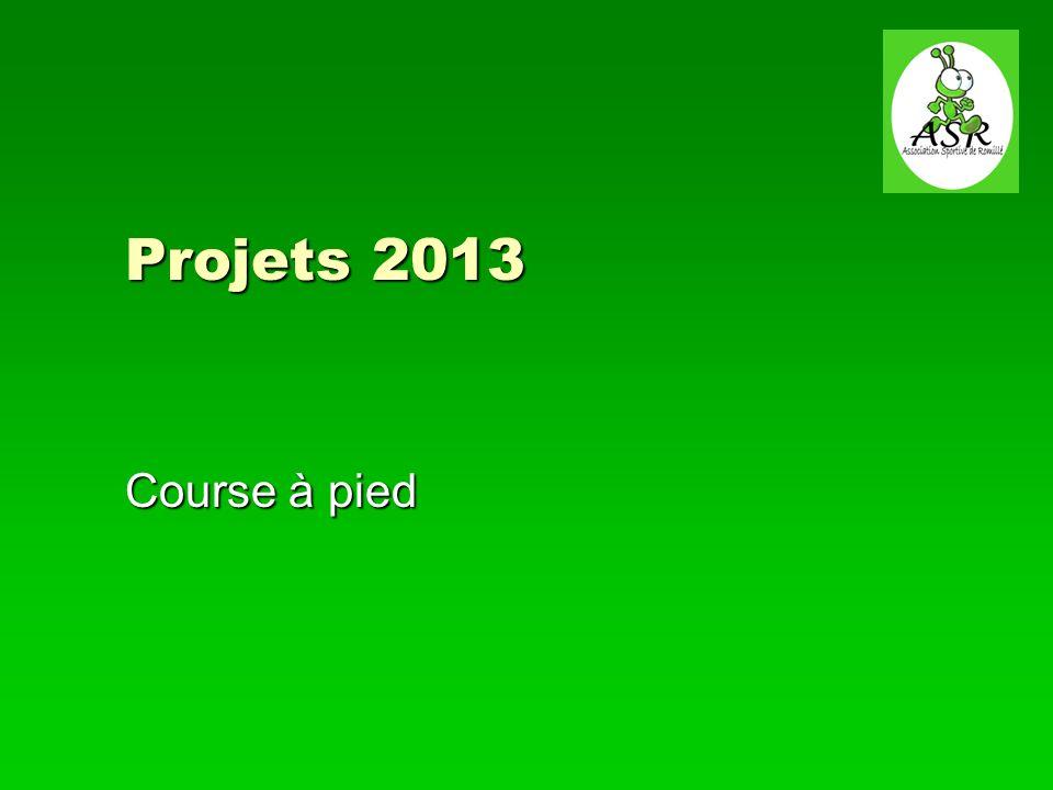 Projets 2013 Course à pied