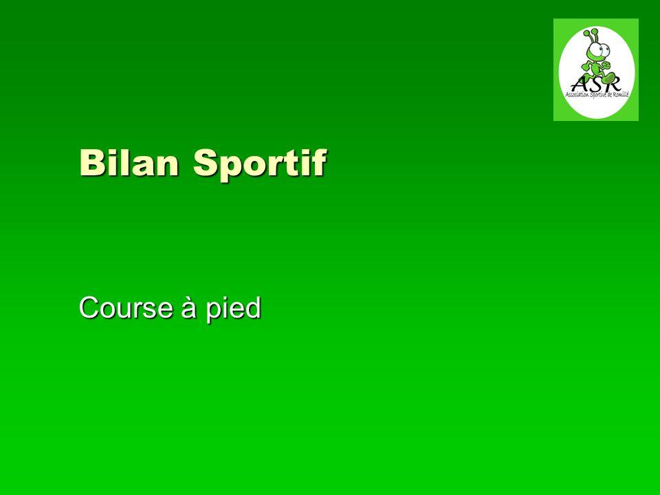 1er février 2013Course à pied Assemblée générale 4 Bilan sportif Effectifs