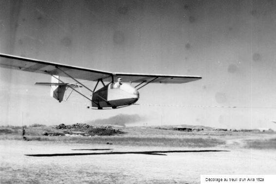 Décollage au treuil dun Avia 152a