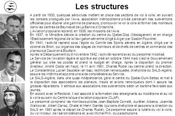 Le 24 avril 1931 – Le planeur de lAéro-club dAlgérie est sorti du hangar de Maison-Blanche, il est amené en piste, Georges Descamps sinstalle aux commandes sur la glissière et cest le premier vol avec un lancer au sandow (Pierre Laffargue)
