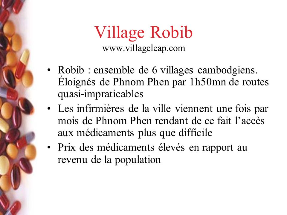 Village Robib www.villageleap.com Robib : ensemble de 6 villages cambodgiens.