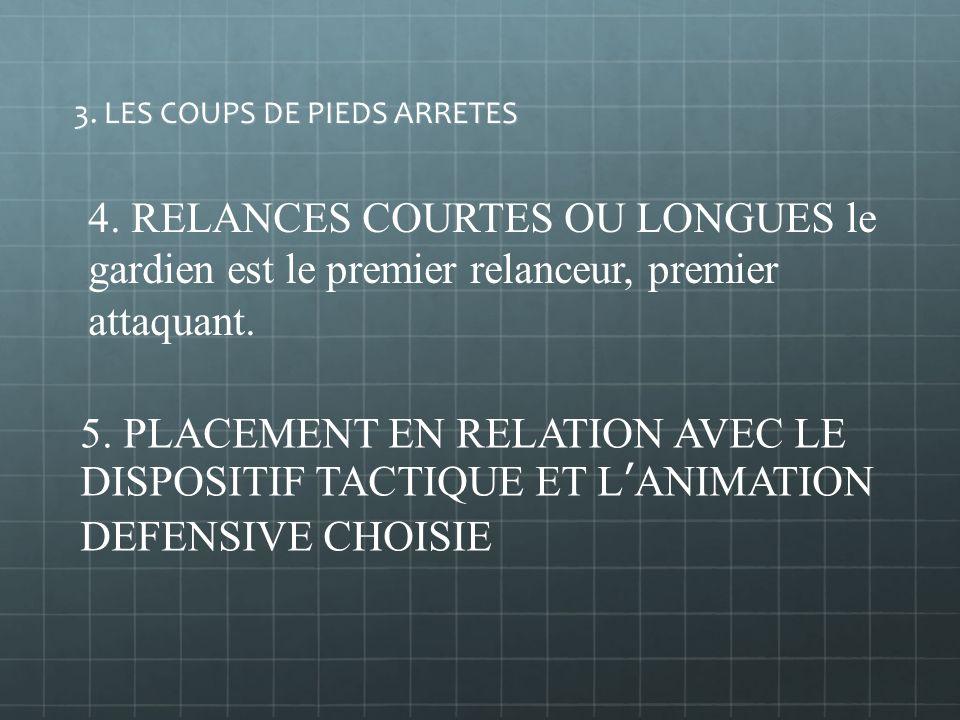 LES QUALITES TACTIQUES 1. PLACEMENT ET REDUCTION D ANGLE (maîtrise de « l espace surface de réparation » par rapport au ballon) 2. SORTIR OU FIXER, ge