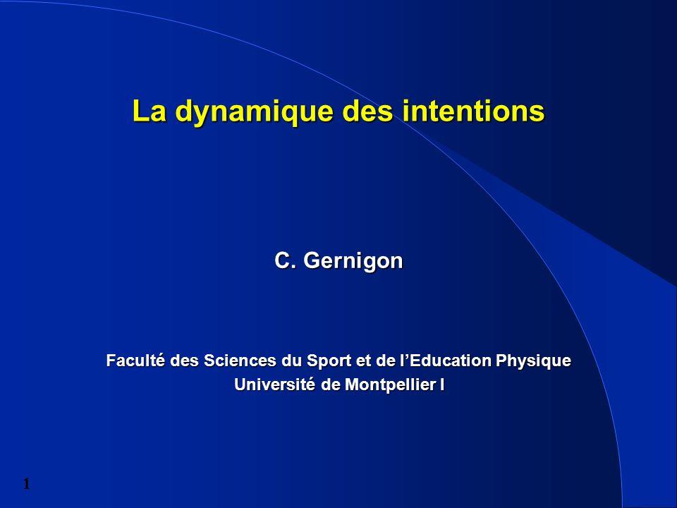 1 La dynamique des intentions C.