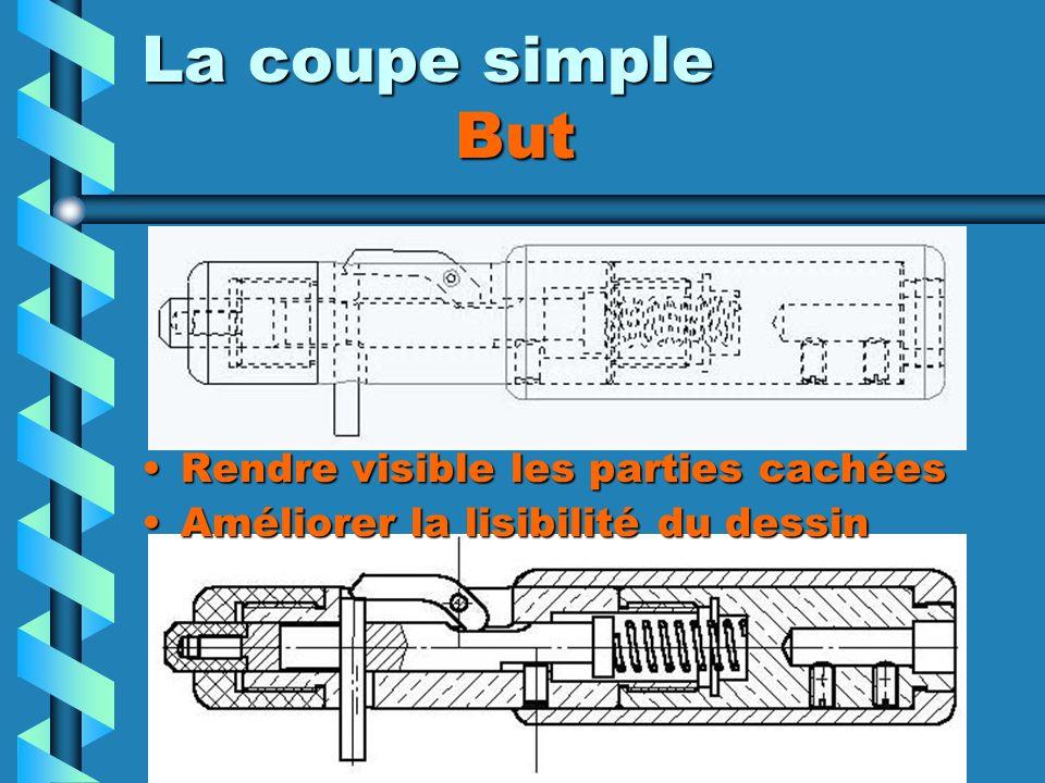 La coupe simple But Rendre visible les parties cachées Améliorer la lisibilité du dessin