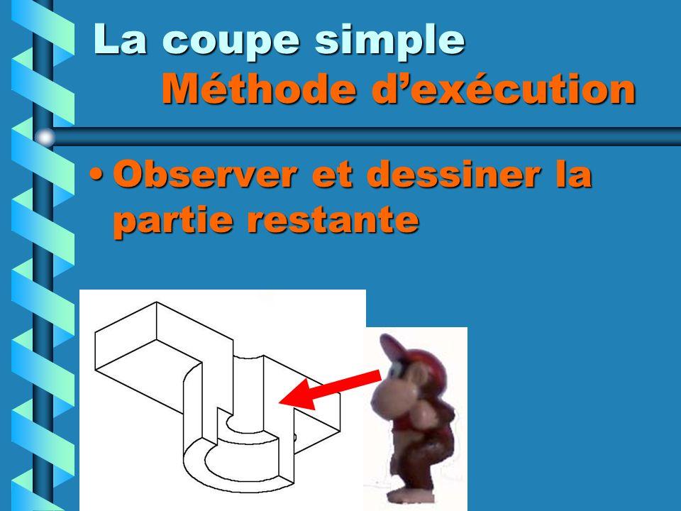 La coupe simple Méthode dexécution Observer et dessiner la partie restante