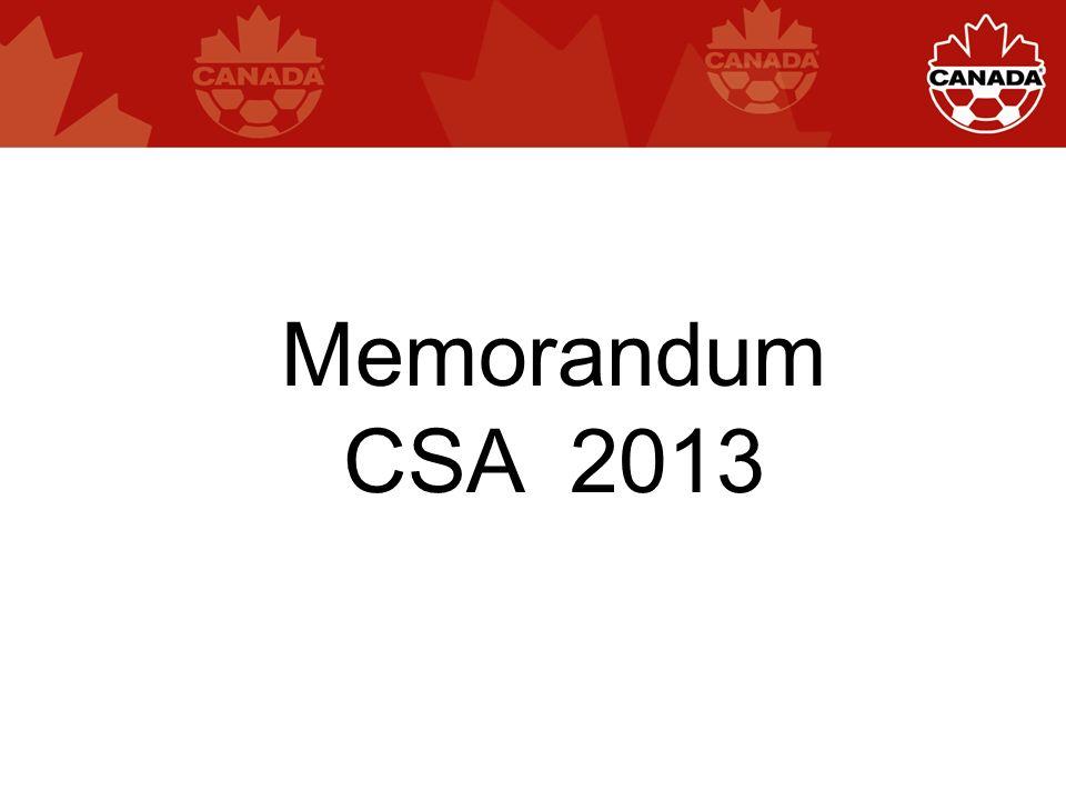 Memorandum CSA 2013
