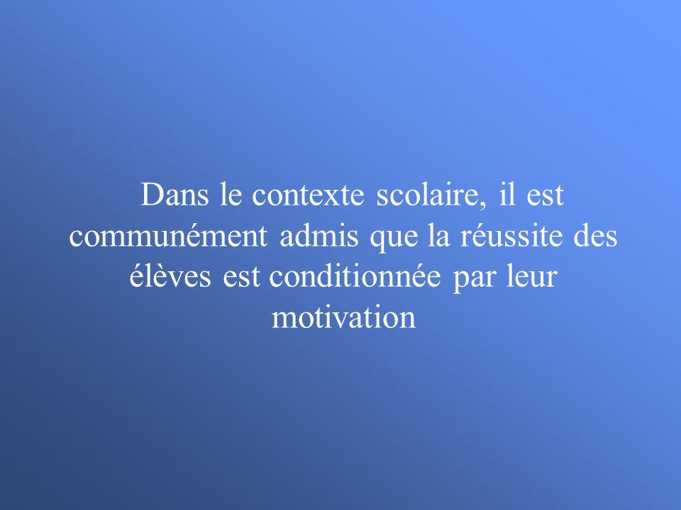 Motivation daccomplissement et persévérance après un échec (Cury, Biddle, Sarrazin, & Famose, 1997).