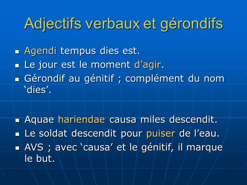 Adjectifs verbaux et gérondifs Ars vera ac falsa diiudicandi.