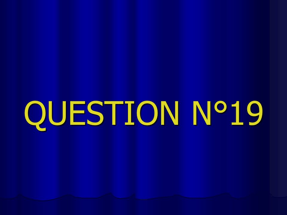 QUESTION N°19
