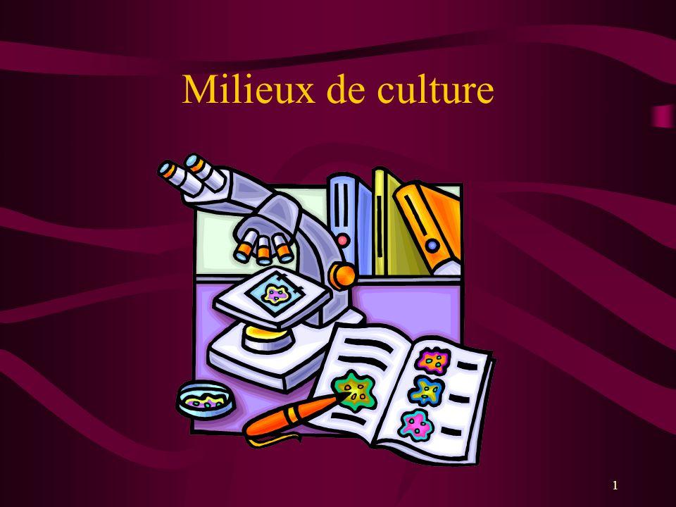 1 Milieux de culture