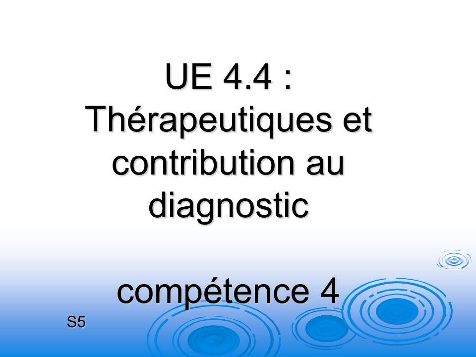 UE 4.4 : Thérapeutiques et contribution au diagnostic compétence 4 S5