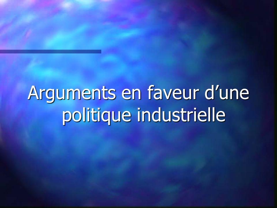 Arguments en faveur dune politique industrielle