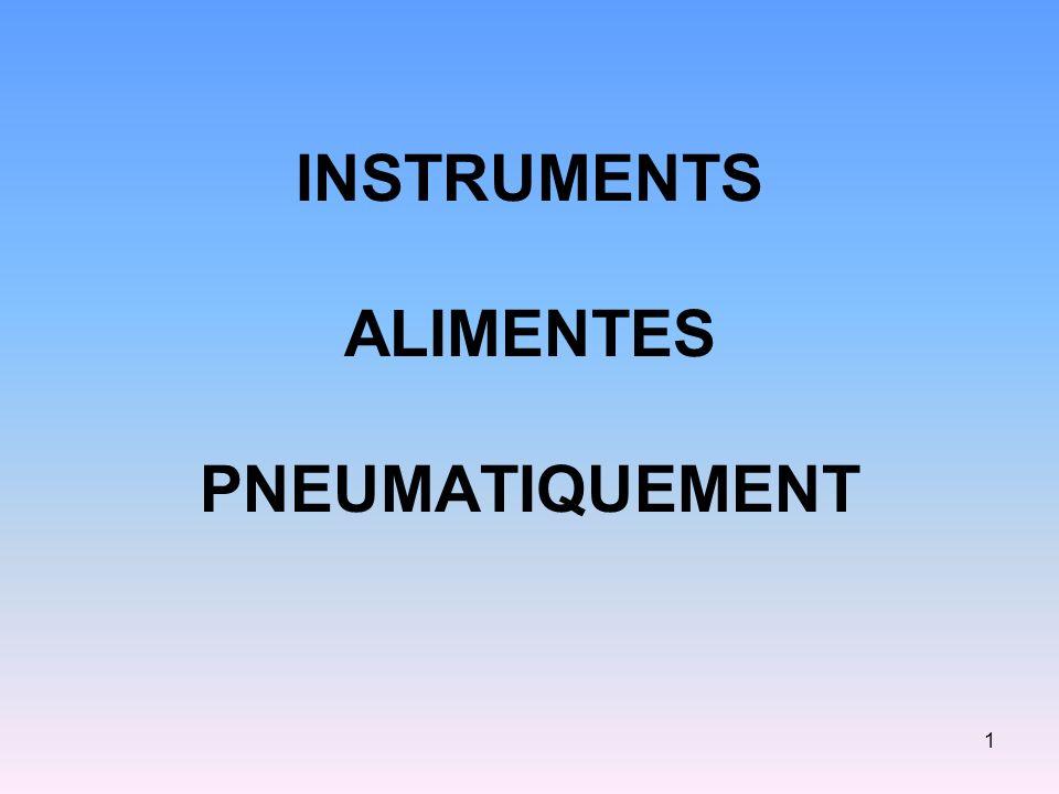 INSTRUMENTS ALIMENTES PNEUMATIQUEMENT 1