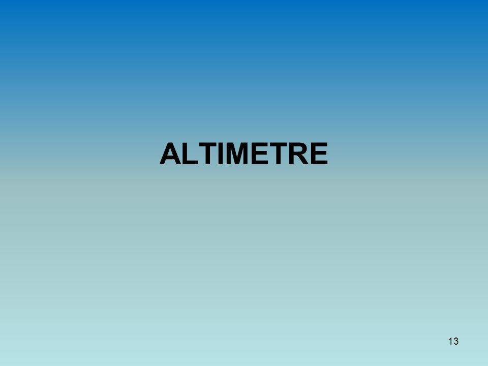 ALTIMETRE 13
