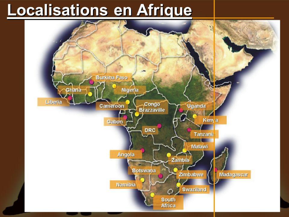 Localisations en Afrique