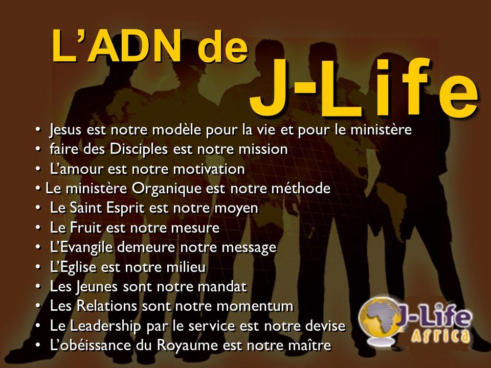LADN Jesus est notre modèle pour la vie et pour le ministère faire des Disciples est notre mission Lamour est notre motivation Le ministère Organique