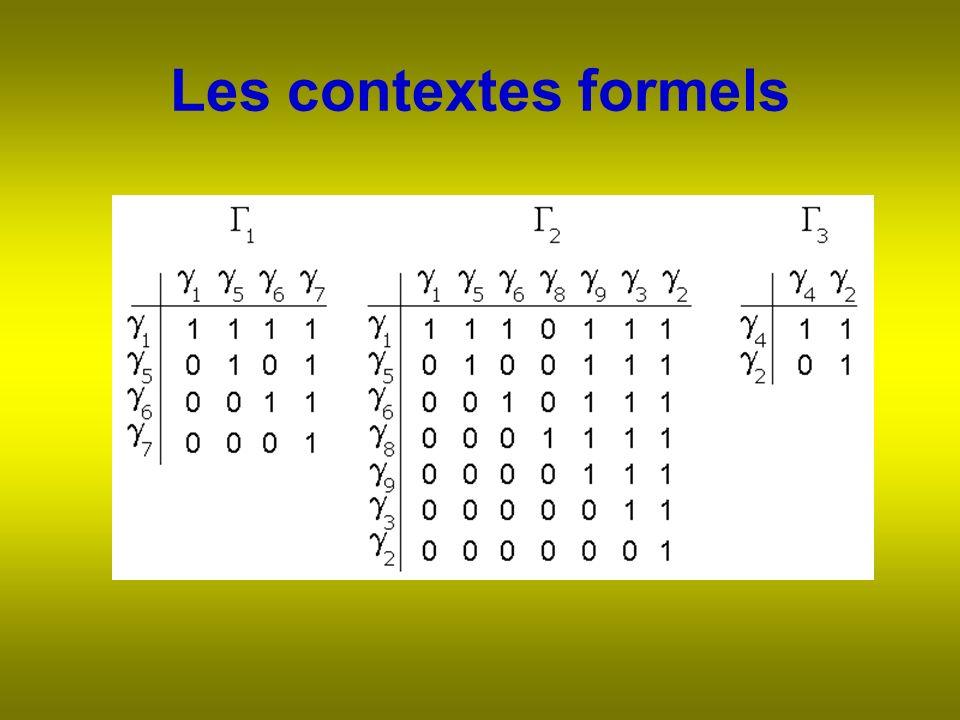 Les contextes formels
