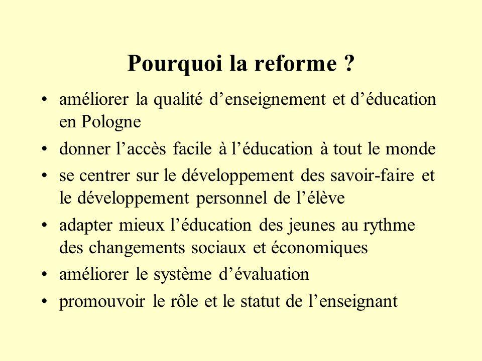 Pourquoi la reforme .