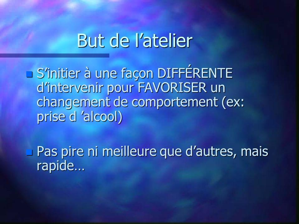 But de latelier: comment.