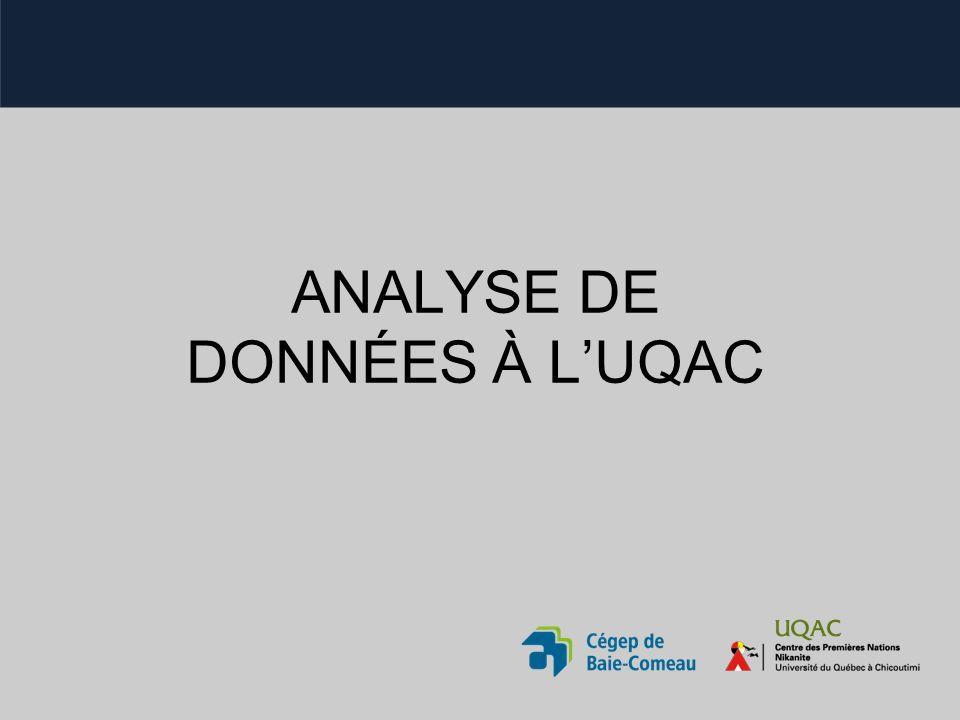 ANALYSE DE DONNÉES À LUQAC