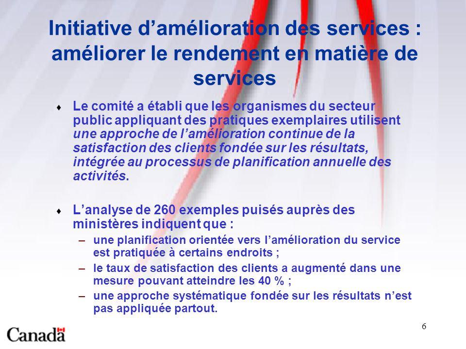 7 Exemple : Développement économique Canada Satisfaction des clients à légard du programme IDEA - SME Qualité du service en général