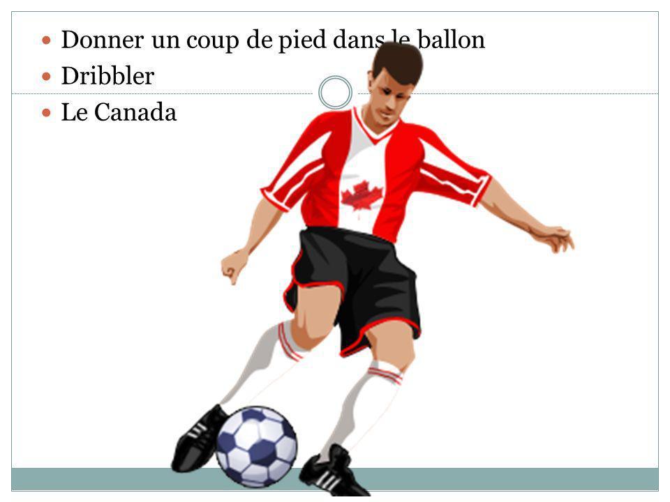 Donner un coup de pied dans le ballon Dribbler Le Canada