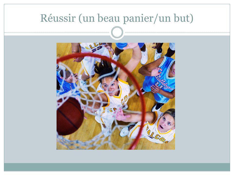Réussir (un beau panier/un but)