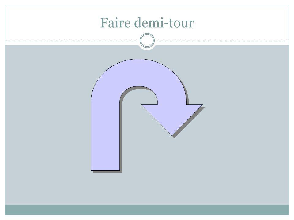 Faire demi-tour