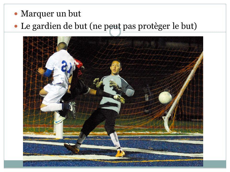 Le gardien de but (ne peut pas protèger le but)