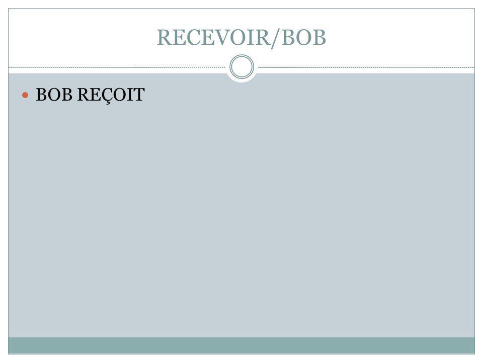 RECEVOIR/BOB BOB REÇOIT
