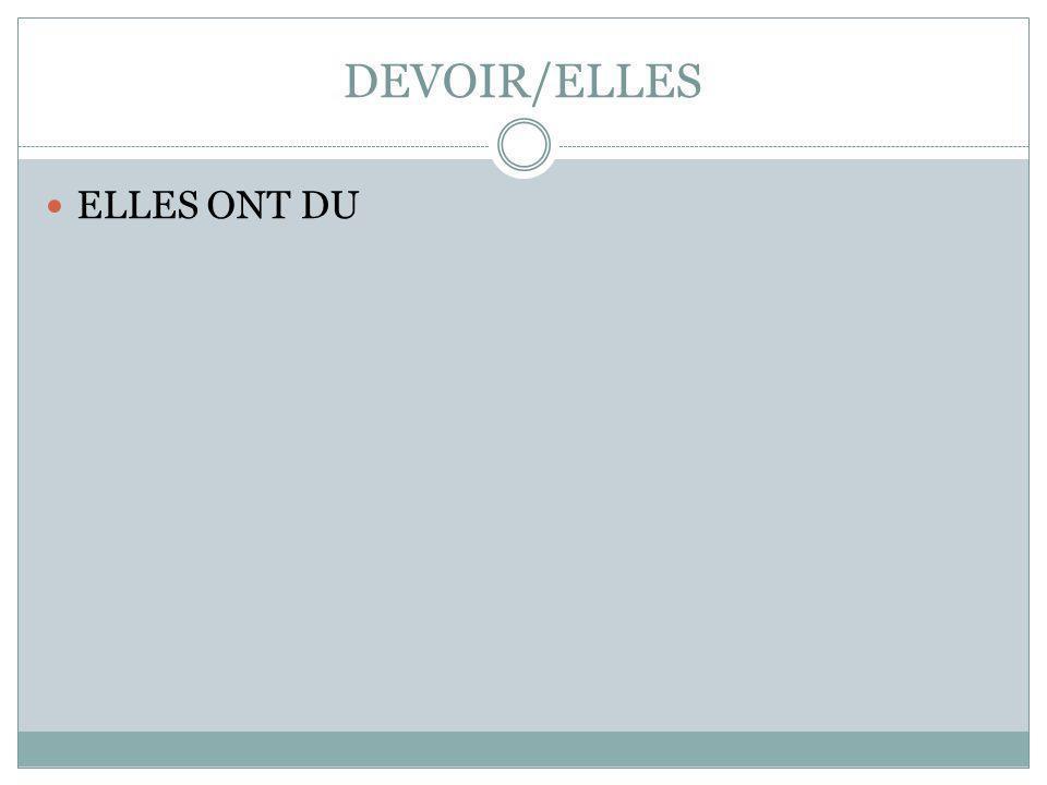 DEVOIR/ELLES ELLES ONT DU