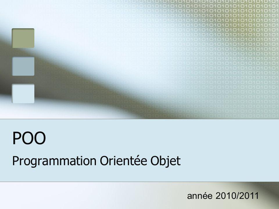POO Programmation Orientée Objet année 2010/2011