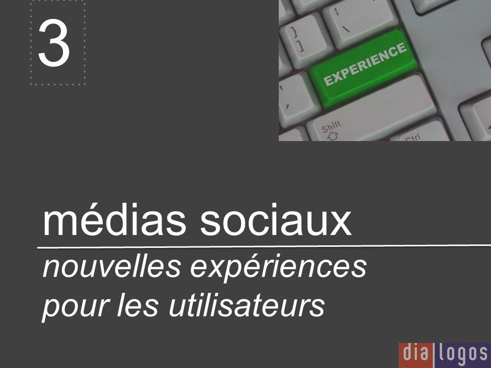 médias sociaux nouvelles expériences pour les utilisateurs 3
