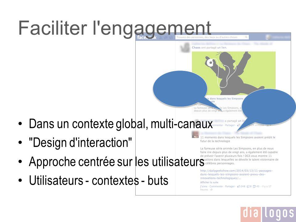 Faciliter l'engagement Dans un contexte global, multi-canaux
