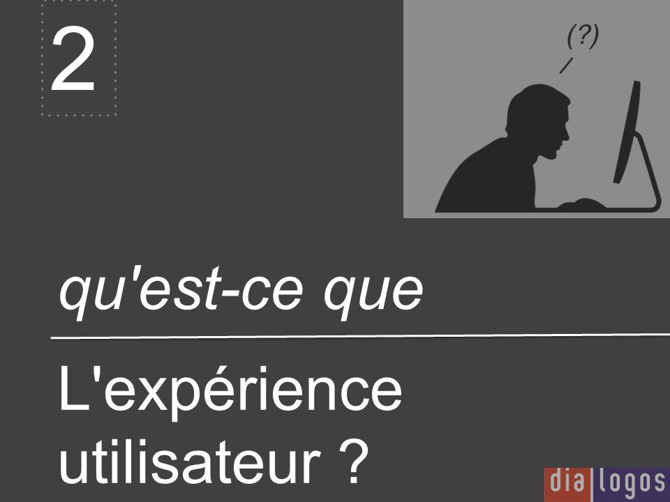qu'est-ce que 2 L'expérience utilisateur ?