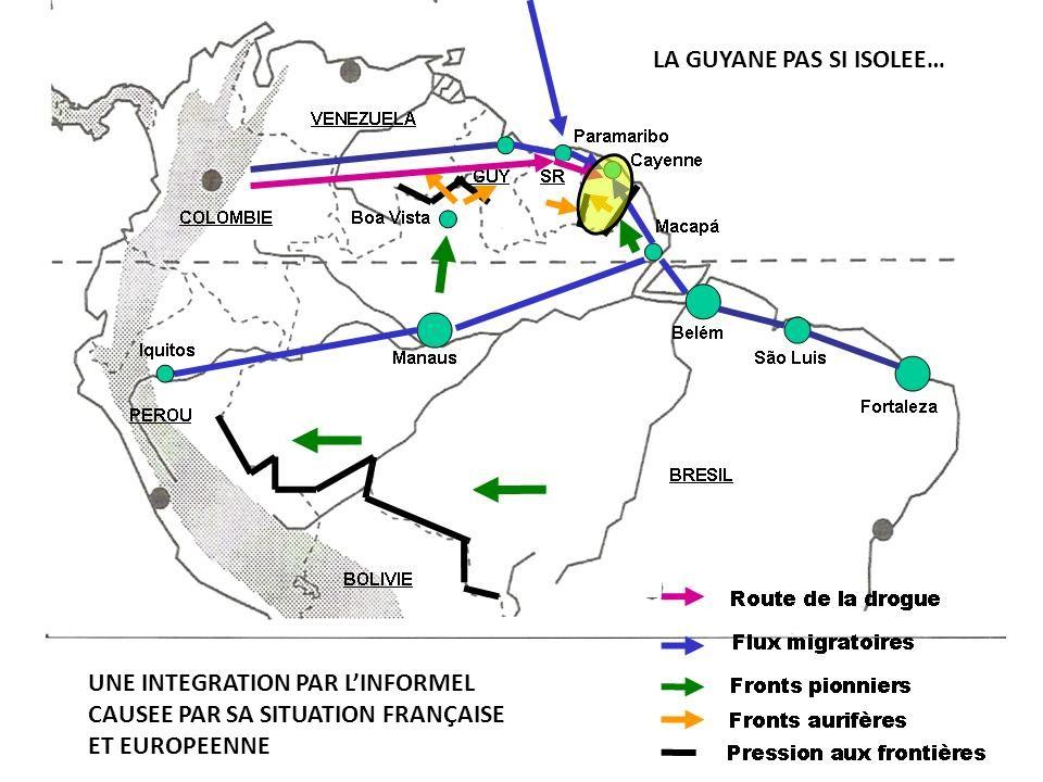 UNE INTEGRATION PAR LINFORMEL CAUSEE PAR SA SITUATION FRANÇAISE ET EUROPEENNE LA GUYANE PAS SI ISOLEE…