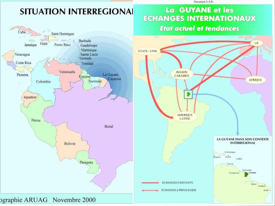 Stage Géo de la Guyane - 2013 Une intégration régionale par linformel.