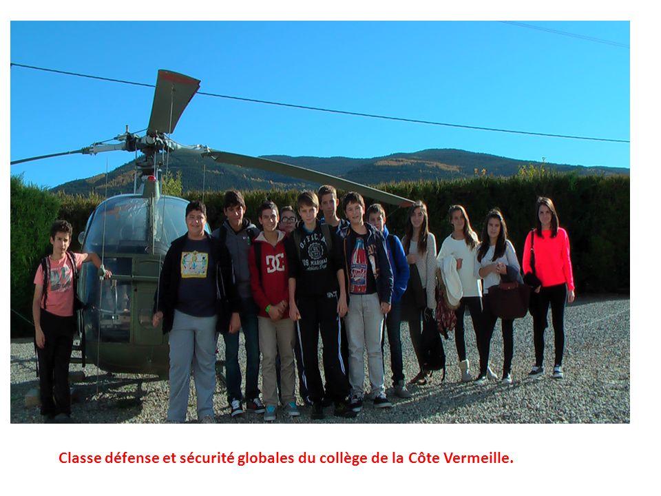 Classe défense et sécurité globales du collège de la Côte Vermeille.